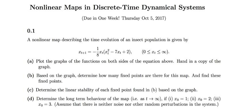 Nonlinear Discrete Dynamical Systems
