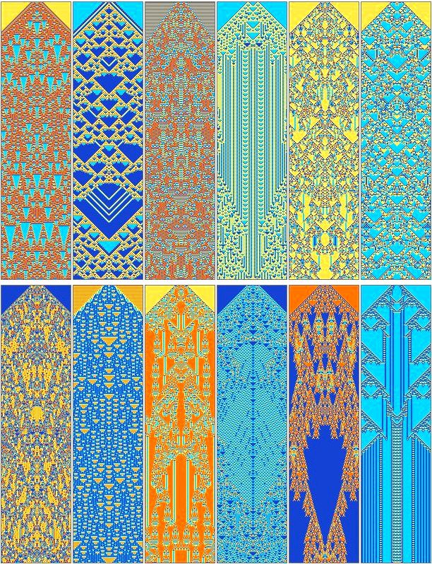 Three-color cellular automata