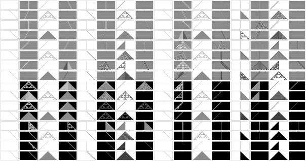 256 possible cellular automata